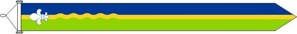 Flevolandse wimpel XXL 400cm met stokje