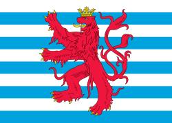 Tafelvlaggetje Luxemburg handelsvlag koopvaardij Luxemburg 10x15cm