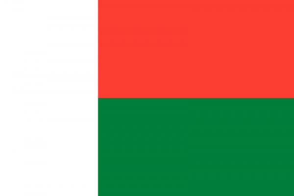 Tafelvlag Madagaskar met standaard