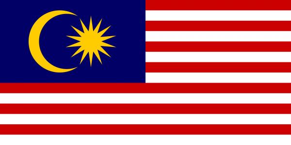 Tafelvlag Maleisie met standaard