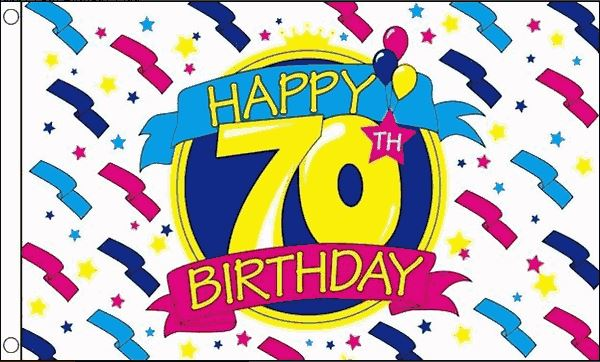 Zeer Vlag voor uw 70ste verjaardag, 90x150cm voordelig kopen bij  XR-63