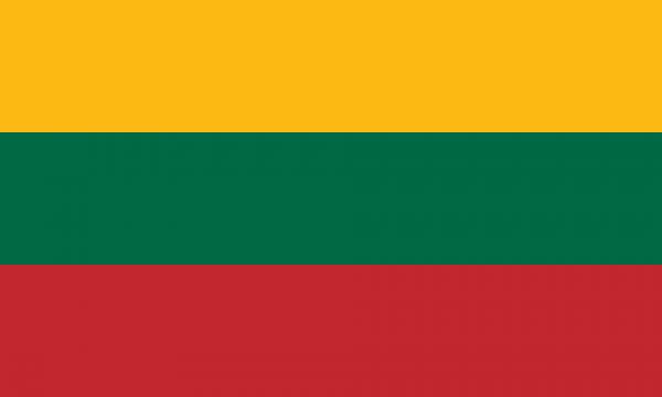 Tafelvlag Litouwen met standaard