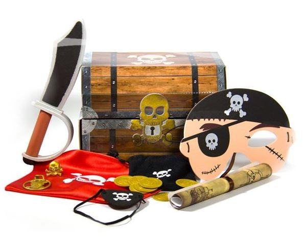 Piraten schatkist met veel accessoires