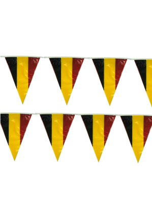 Vlaggenlijn Belgie met Belgische wimpels 10m
