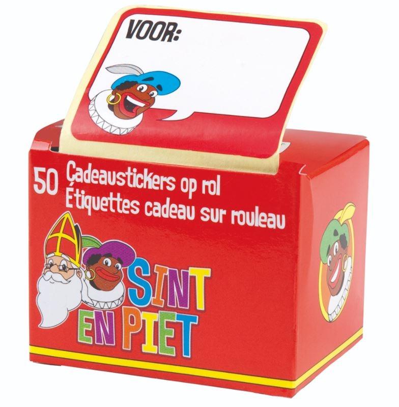 Sint en Piet etiketten op stickerrol