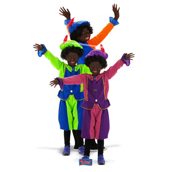 Zwarte Piet- Roetveeg Pietenpak kleding voor zwarte Piet- Roetveeg Piet voor kinderen van 3 tot 5 jaar
