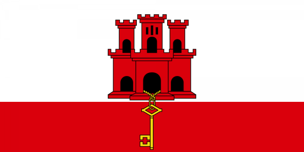 vlag Gibraltar Gibraltarese vlaggen 30x45cm gastenvlag