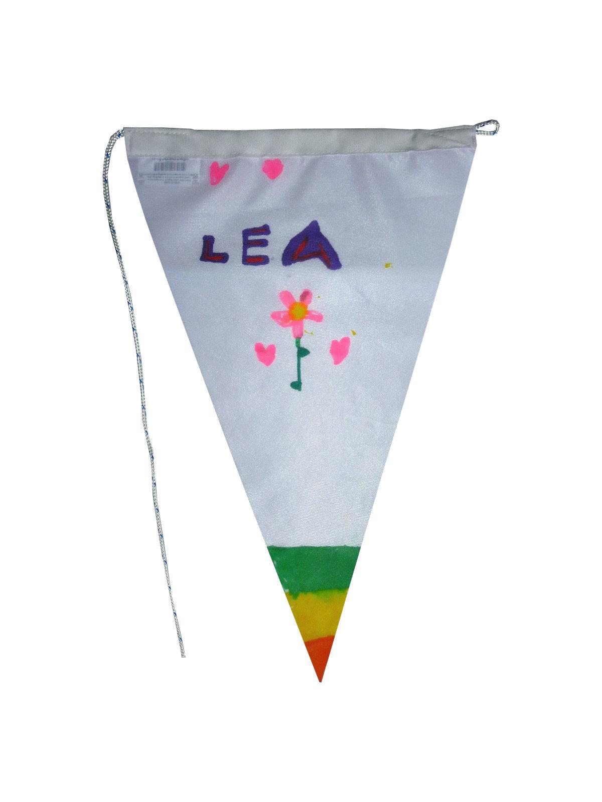 Voorbeeld wimpel voor het maken van je eigen vlaggenlijn