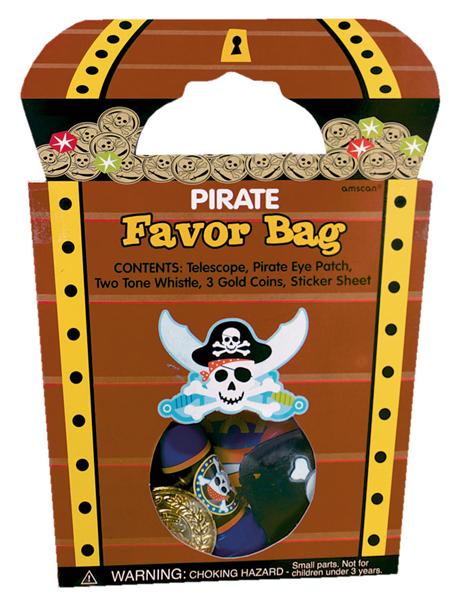 Piraten schatkist uitdeelzakje met leuke inhoud