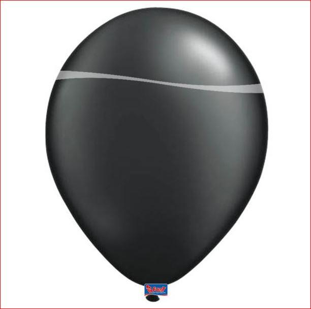 Zwarte metallic ballonnen 10 stuks