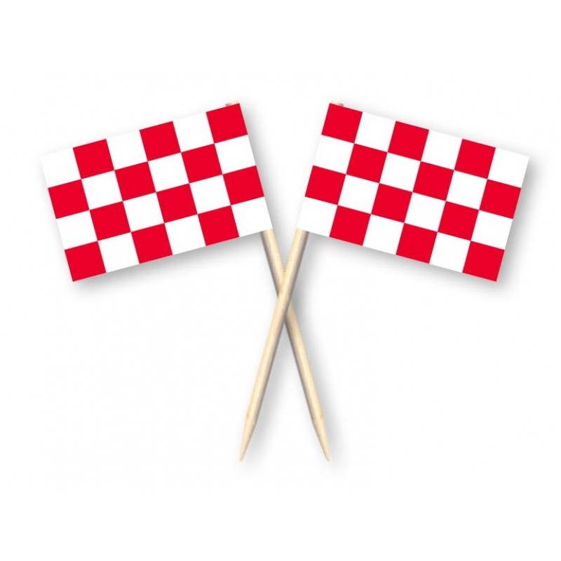 Cocktailprikkers met Noord-Brabantse vlag 50 stuks