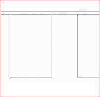 vlaggenlijn met witte blanco vlaggen 9m