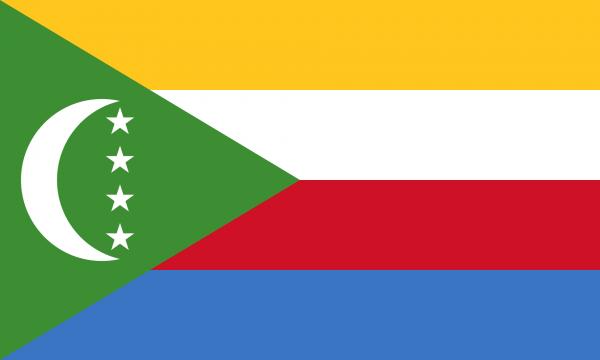Vlag Comoren 100x150cm Glanspoly
