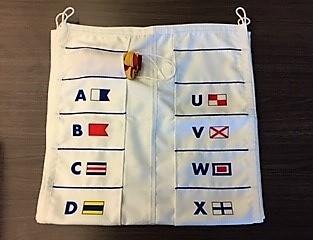 Tas voor seinvlaggen set 40x60cm