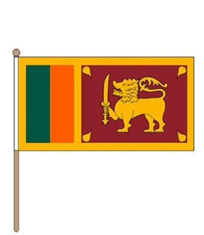Zwaaivlag Sri Lanka 30x45cm, stoklengte 60cm