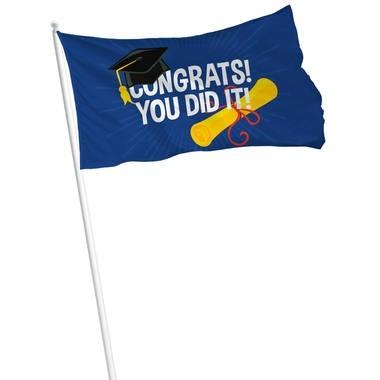Geslaagd vlag congrats 60x90cm