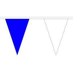 Vlaggenlijn stof Blauw/Wit 20m kleuren van o.a. PEC Zwolle