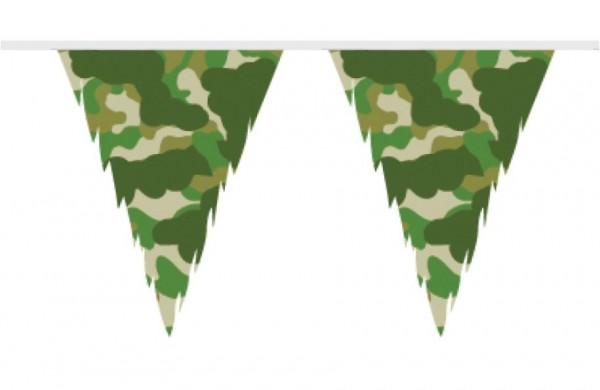 Camouflage vlaggenlijn 10m