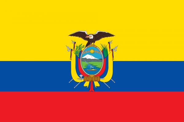 vlag Ecuador | Ecuadoriaanse vlaggen 20x30cm gastenvlag kopen