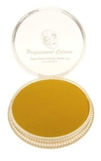 Gele schmink Aqua PXP Waterbasis face & body 30 gram Geel