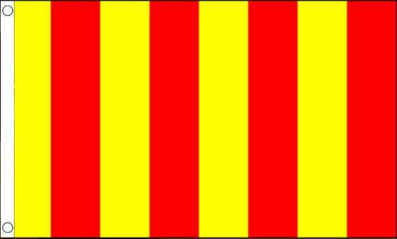 Racevlag rood/geel gestreept 60x90cm Best Value