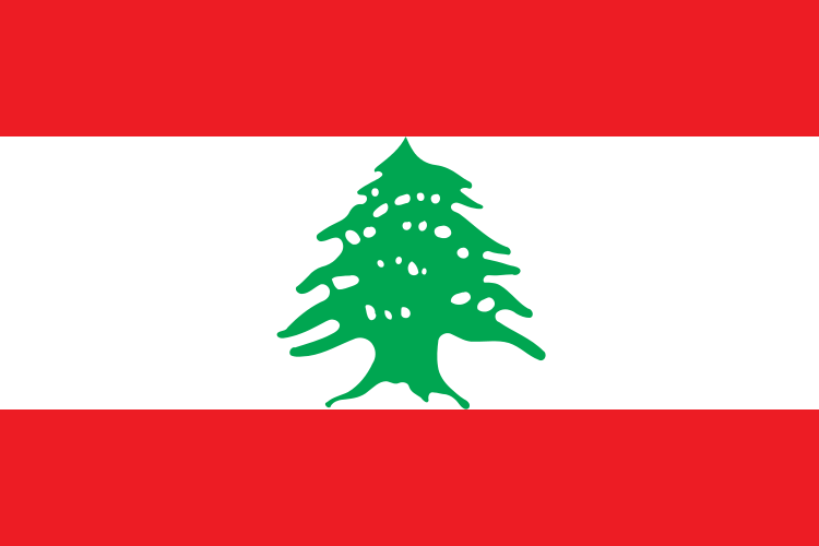 tafelvlaggen Libanon 10x15cm | Libanese tafelvlag