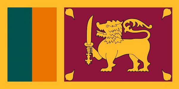 Tafelvlag Sri-Lanka met standaard