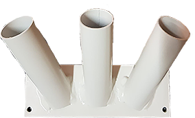 Vlaggenstokhouder voor drie stokken 30mm gevelmontage