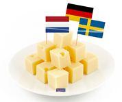 Cocktailprikkers met Europese landen vlaggen 50 stuks