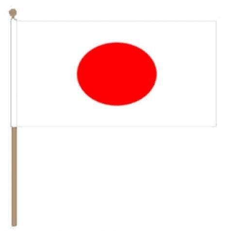 Zwaaivlag Japan 30x45cm, stoklengte 60cm