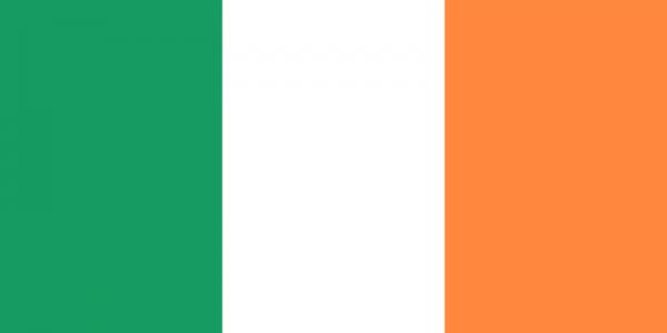 Tafelvlag Ierland met standaard