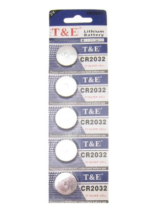 Batterij CR2032 Lithium 3V plat