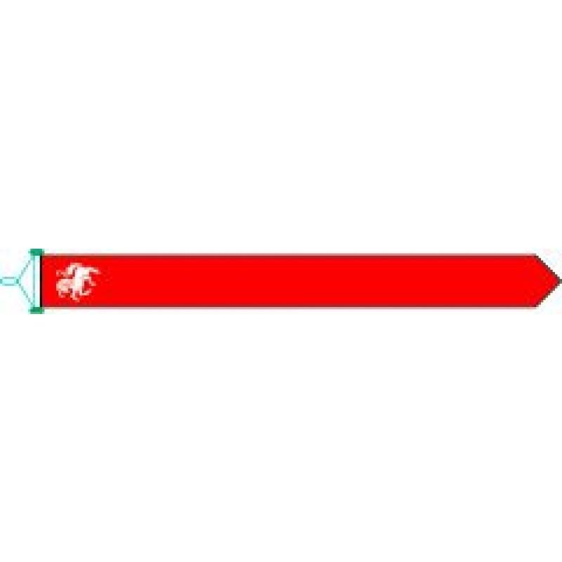 Wimpel Twente Twentse Ros 25x300cm met stokje