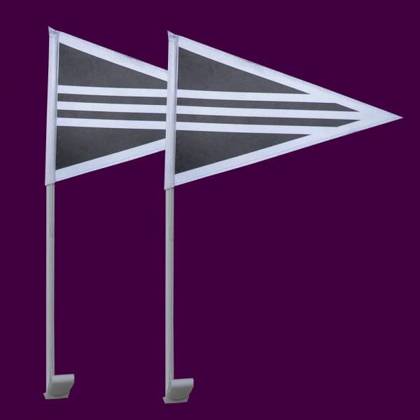 Rouwstoetvlaggen set 2 stuks Rouwstoet autovlaggen