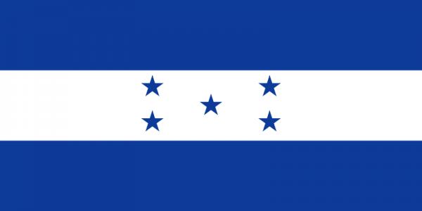 Vlag Honduras Met Wapen 100x150cm Glanspoly