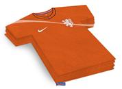 Servetten Oranje Voetbal KNVB shirtjes papier KNVB WK | EK