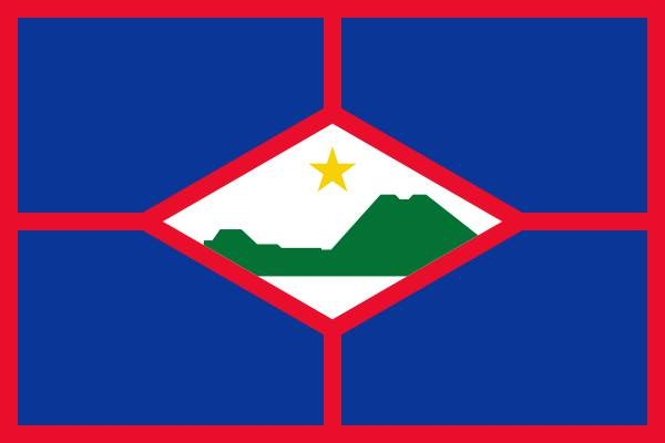Vlag Sint Eustatius 150x225cm mastvlag