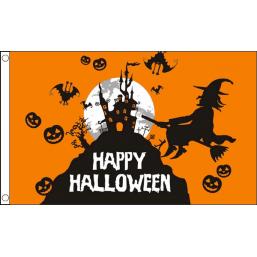 Vlag Halloween Happy Halloween vlag 90x150cm Sint Maarten