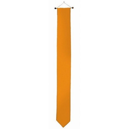 Oranje wimpel 25x400cmcm met stokje passend bij vlag 200x300cm