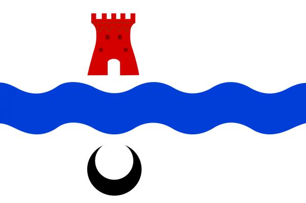 Vlag Leidschendam-Voorburg 20x30cm