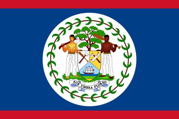 Tafelvlaggen Belize 10x15cm   Belizaanse tafelvlag