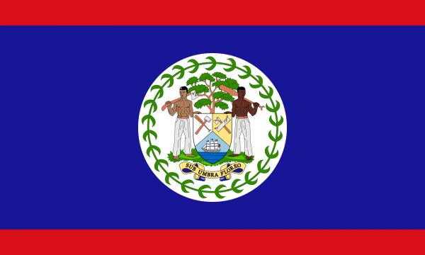 Vlag Belize 100x150cm Glanspoly