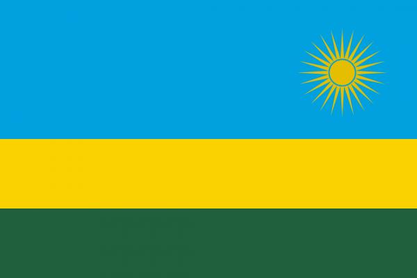 vlag Rwanda, Rwandese vlaggen 100x150cm