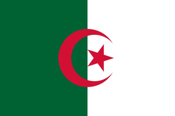 Tafelvlaggen Algerije 10x15cm | Algerijnse tafelvlag