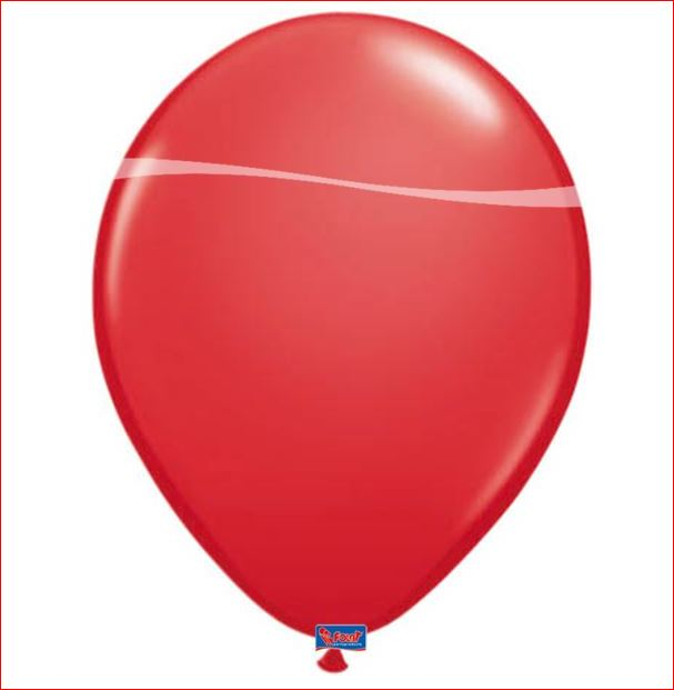 Rode ballonnen 10 stuks