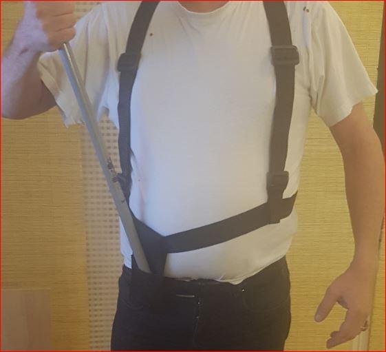 Bandelier Draagriem voor vlaggenstok met schouderband en holster