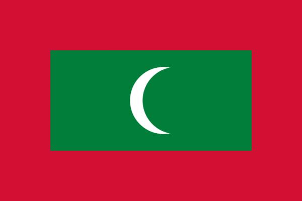 tafelvlaggen Malediven 10x15cm | Maledivische tafelvlag