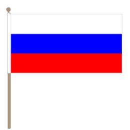 Zwaaivlag Rusland, Russische zwaaivlag 30x45cm, stoklengte 60cm