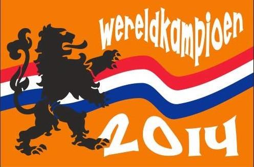 Kampioensvlag 2014 WK Oranje kampioen vlag 100x150cm