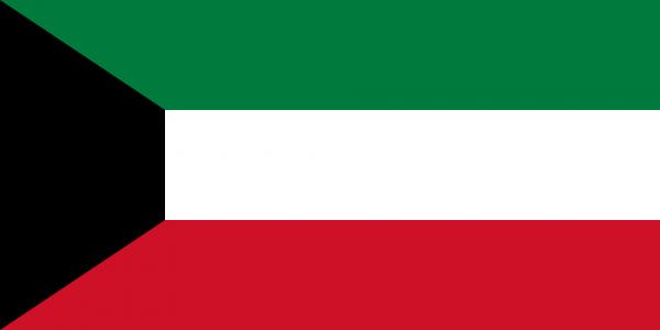 Tafelvlag Koeweit met standaard